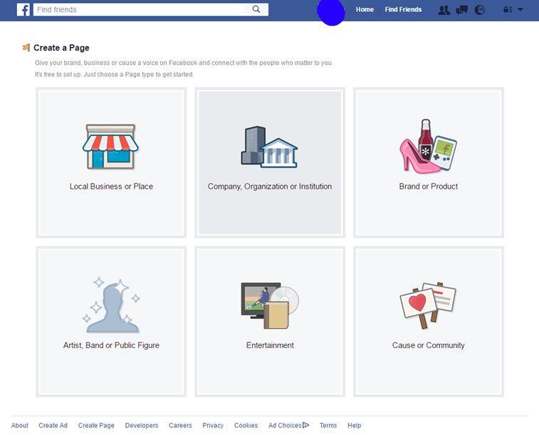 kreiranje facebook stranice