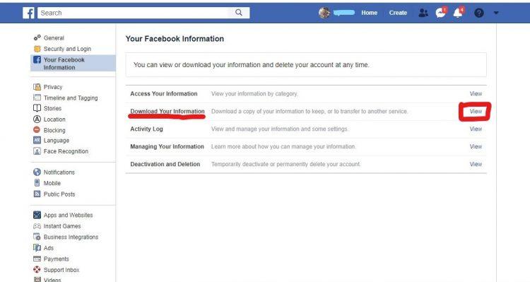 Sacuvajte sve podatke sa Facebooka