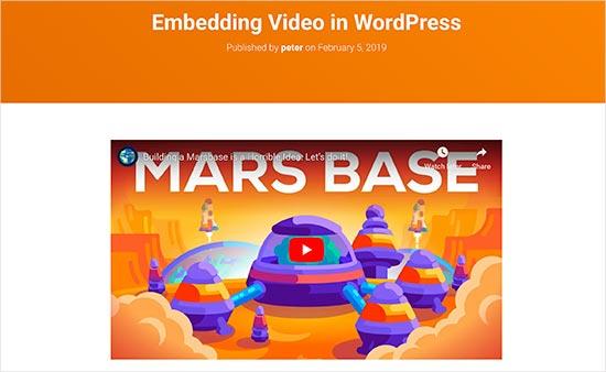 postavljanje video objave