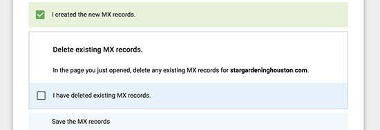 mx record napravljen