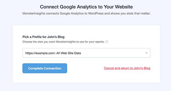 spajanje sajta sa google analitikom