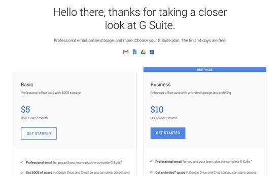 G Suite paketi