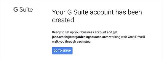 G Suite profil