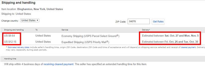 ebay dostava
