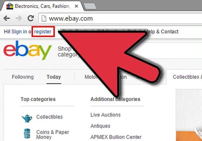 registracija ebay