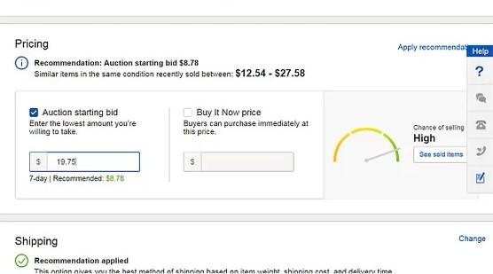 cena ebay proizvoda kako formirati