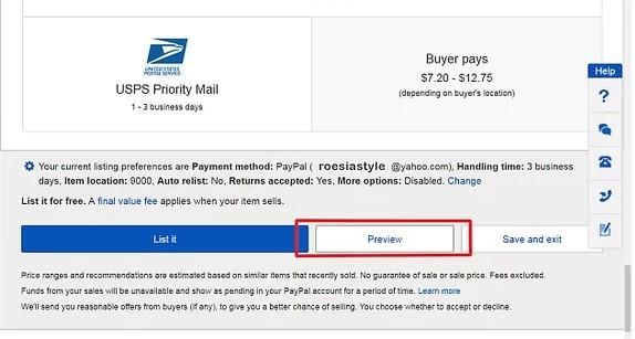 postavljanje proizvoda na ebay